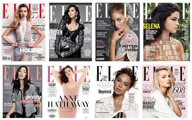 Couvertures du magazine Elle